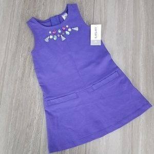 NWT Carters Girls 2T A-line Dress Tassels